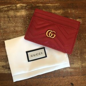 Gucci Marmont Matelasse Leather Card Case